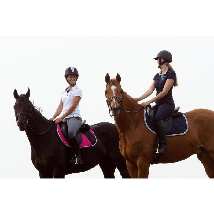 Pantalon équitation femme BR500 basanes marine - 1127284