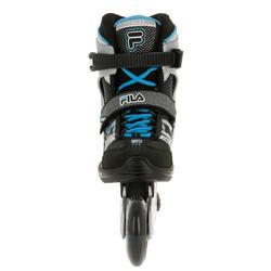Fitness skates Plume voor volwassenen zwart/blauw - 11273