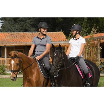Pantalon équitation femme BR500 basanes marine - 1127304