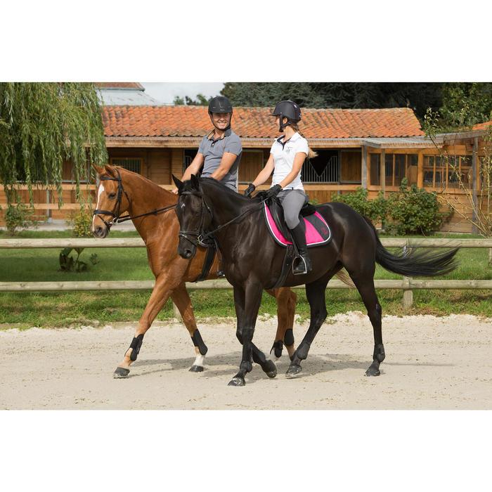 Pantalon équitation femme BR500 basanes marine - 1127314