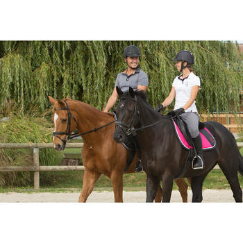 Pantalon équitation femme BR500 basanes marine - 1127318