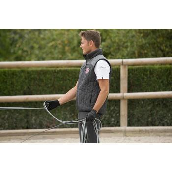 Gilet sans manche équitation homme GL700 noir et gris - 1127326