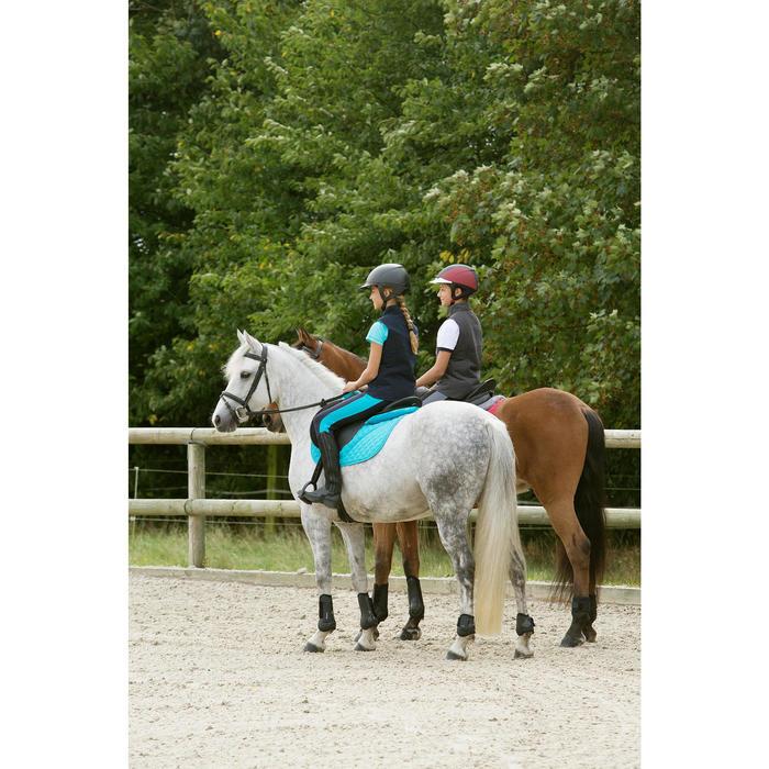 Pantalon équitation fille BR120 marine et - 1127333