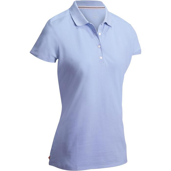 Polo de golf femme manches courtes 500 temps tempéré - 1127389