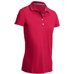 Women's Golf Polo T-Shirt 500 Raspberry