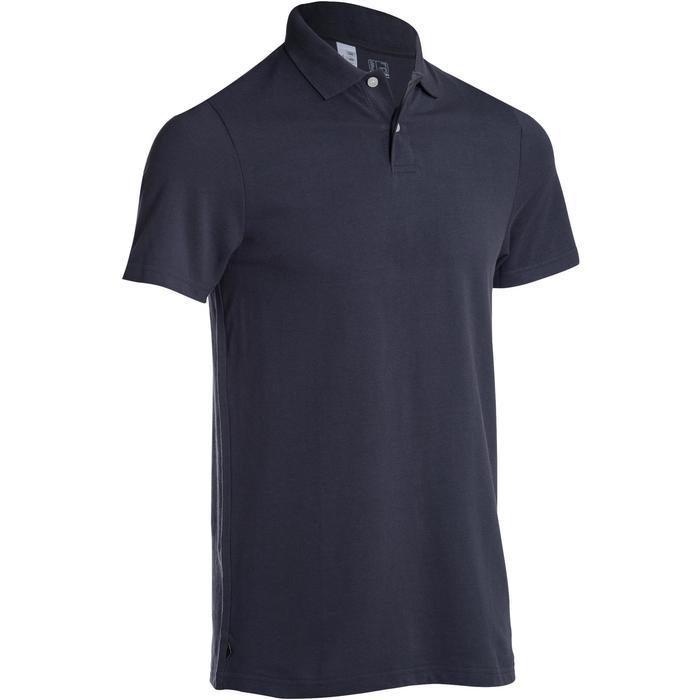 Polo de golf hombre manga corta 100 tiempo templado gris