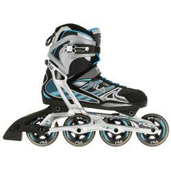 Fitness skates Plume voor volwassenen zwart/blauw - 11274