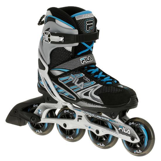 Fitness skates Plume voor volwassenen zwart/blauw - 11275