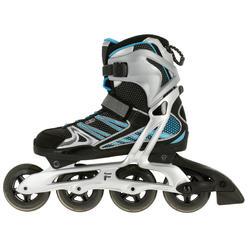 Fitness skates Plume voor volwassenen zwart/blauw - 11276