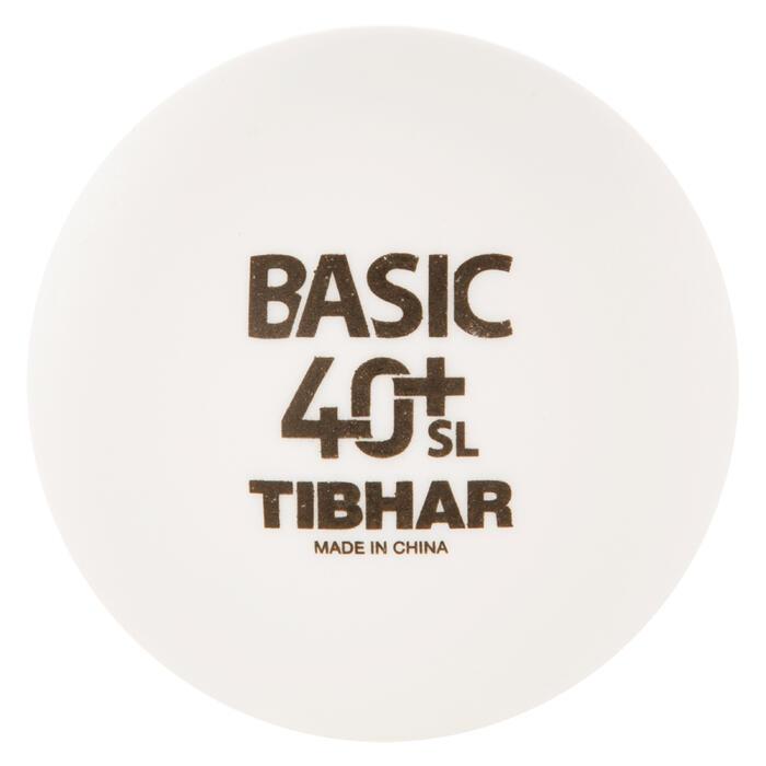 BALLES DE TENNIS DE TABLE BASIC SL 4+ X72 BLANCHES - 1127683