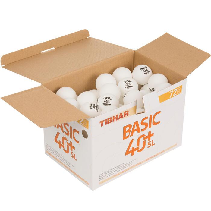 BALLES DE TENNIS DE TABLE BASIC SL 4+ X72 BLANCHES - 1127695