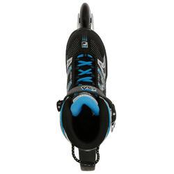 Fitness skates Plume voor volwassenen zwart/blauw - 11277