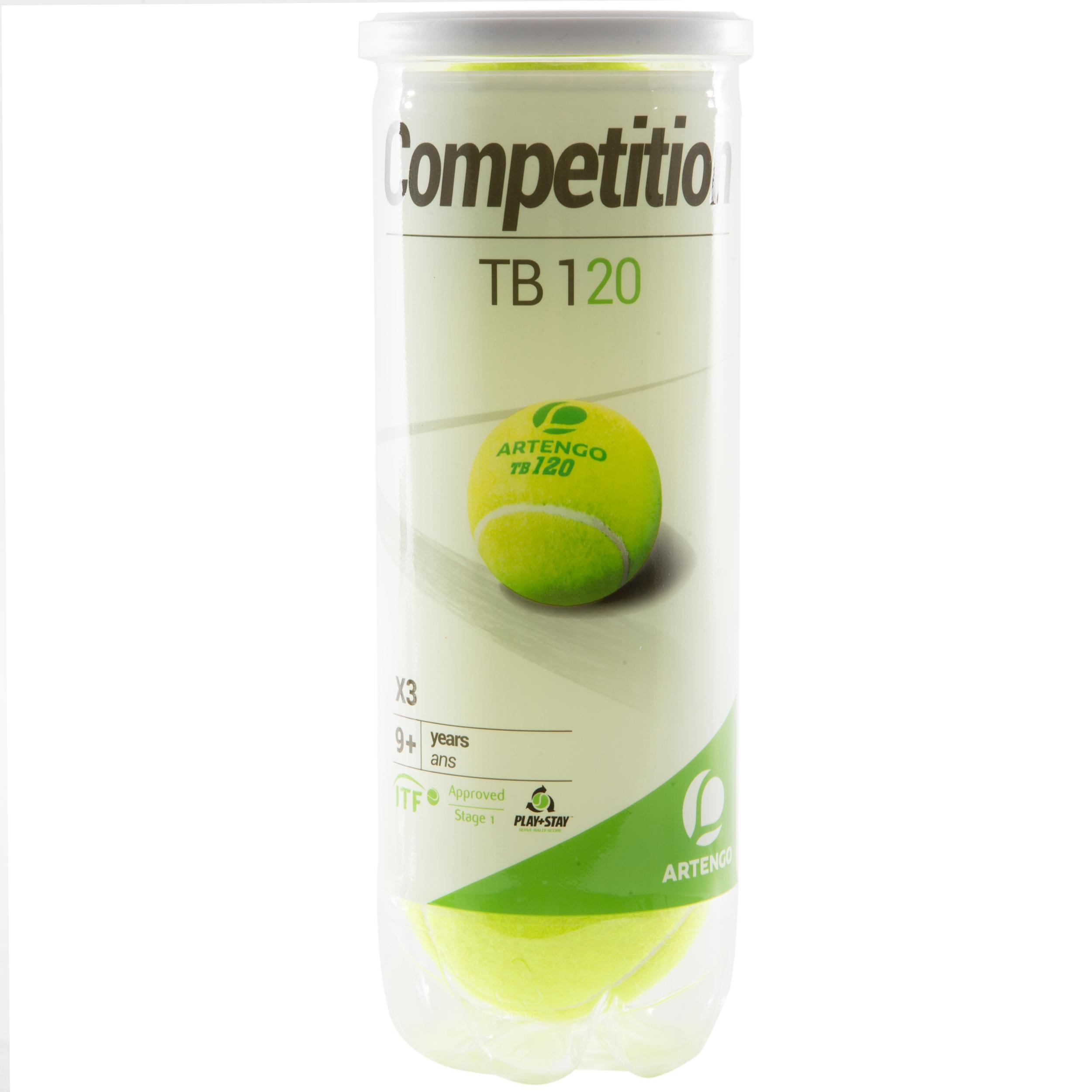 Artengo Gasgevulde tennisbal TB120 3 stuks competitie KD