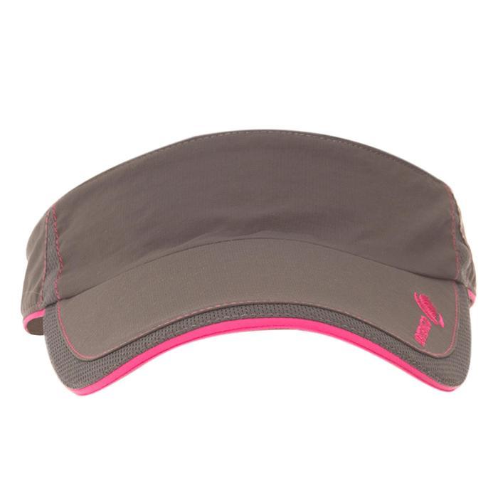 Schirmmütze Tennis-Cap Visier Erwachsene grau/rosa