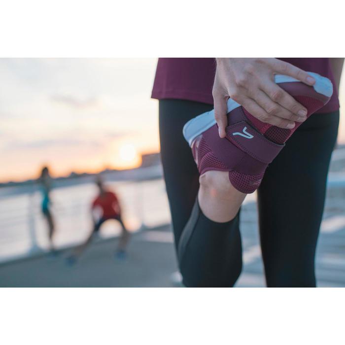 Zapatillas marcha deportiva mujer Soft 180 Correa violeta / rosa