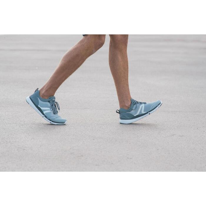 Herensneakers voor sportief wandelen Soft 540 mesh grijs