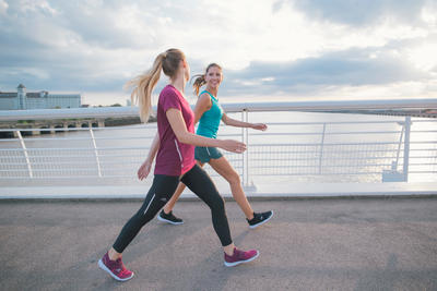 Soft 180 Strap Women's Fitness Walking Shoes - Purple/Pink