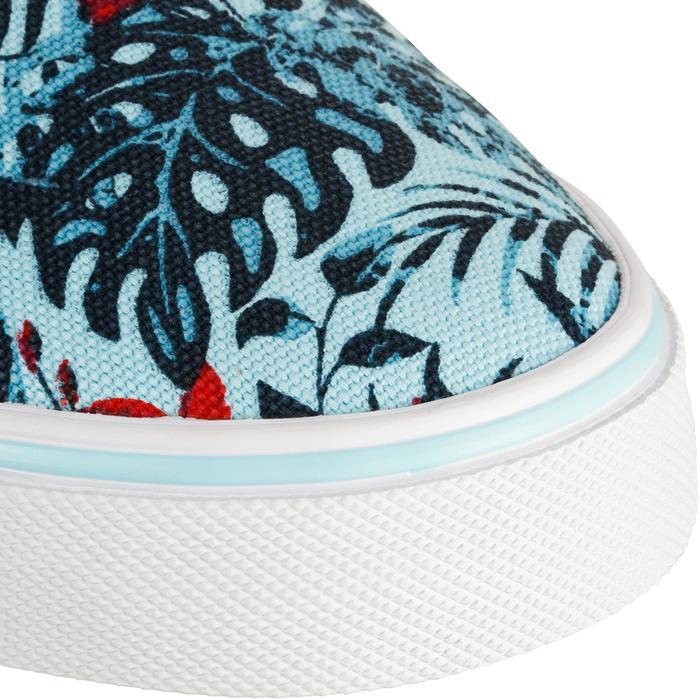 Lage skateboardschoenen voor dames Vulca Canvas jungle blauw