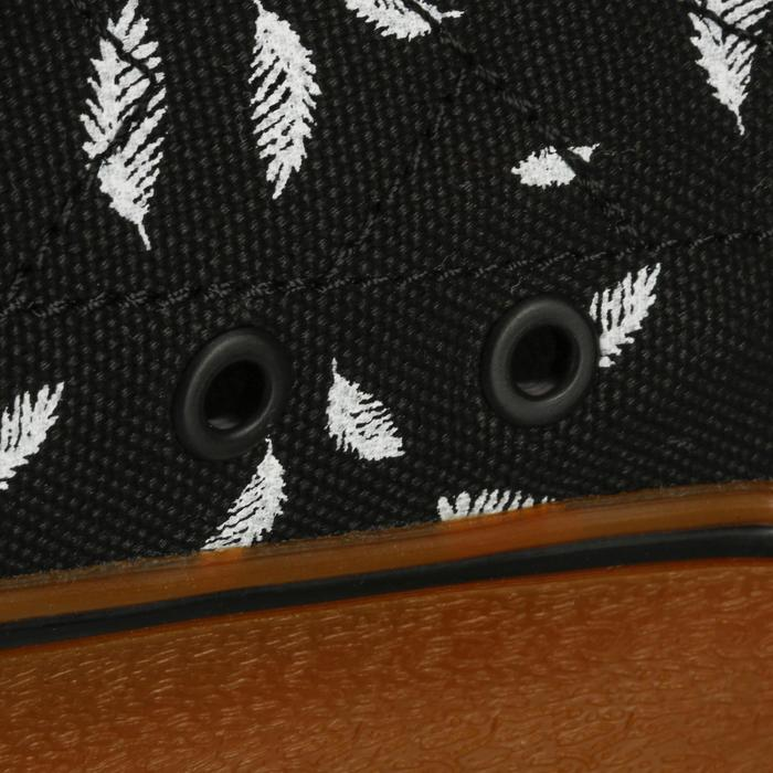 Zapatillas de caña baja skateboard-longboard adulto VULCA LONA M bi plume negro