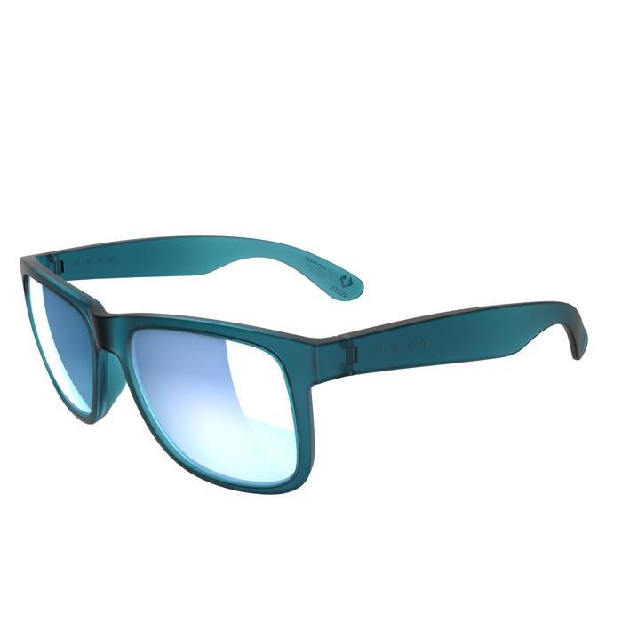 lunettes de soleil de marche sportive adulte WALKING 400 bleues catégorie 3 - 1128231