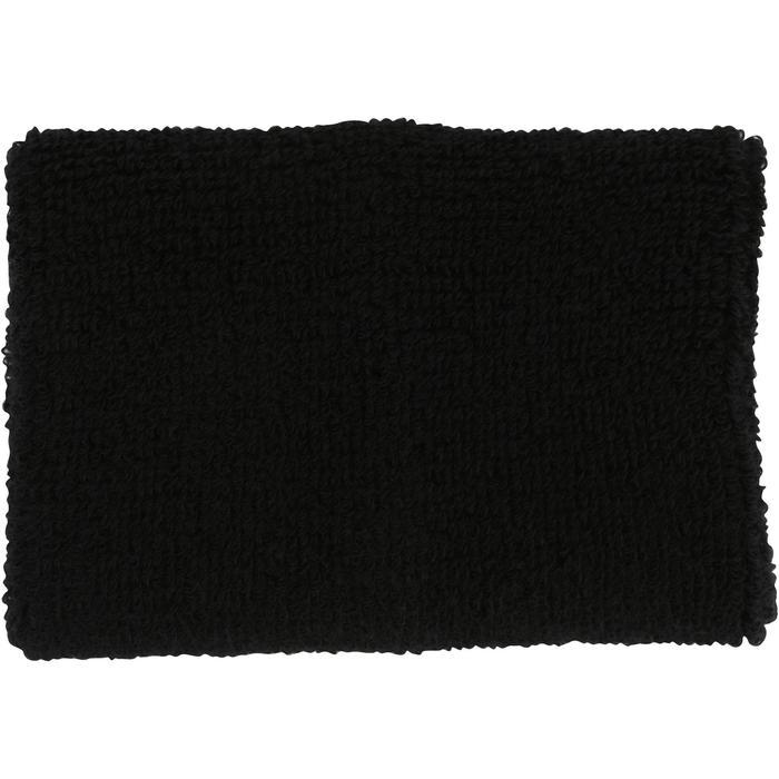 Muñequeras de felpa x2 fitness negro