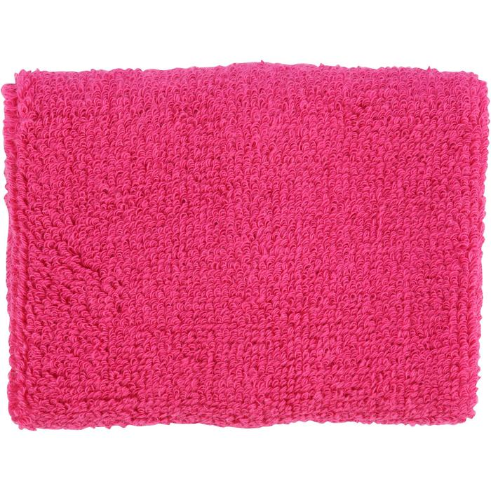 Muñequeras de felpa x2 fitness rosa