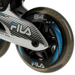 Fitness skates Plume voor volwassenen zwart/blauw - 11284