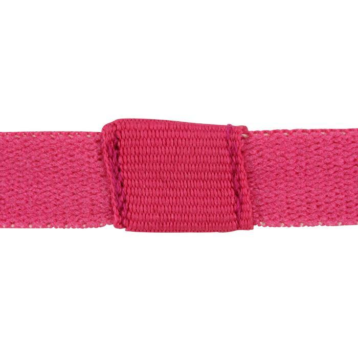 Elastische fitness en cardiotraining hoofdbanden (set van 3) dames roze en zwart