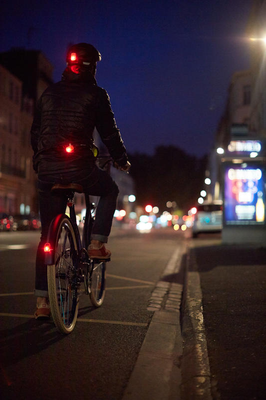 VIOO Clip 500 Front & Rear LED Bike Light Set USB - Blue