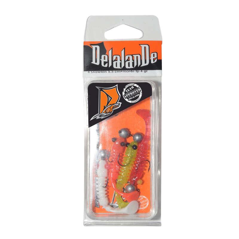PLASZTIKCSALIK Horgászsport - SKELETONS 4 db plasztikcsali  DELALANDE - Ragadozóhalak horgászata