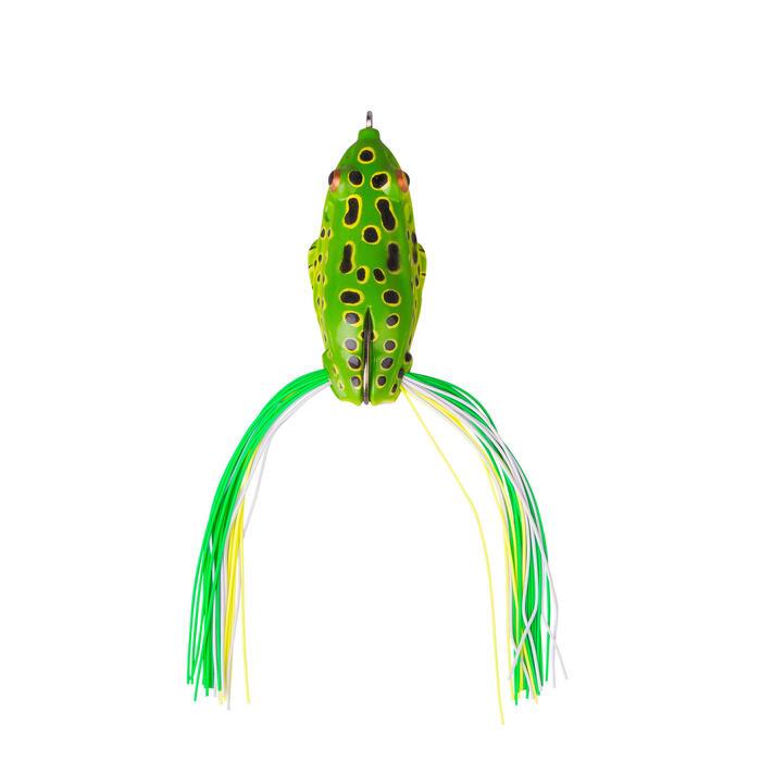 Kunstaas hengelsport 3D Skirt frog 6 cm green