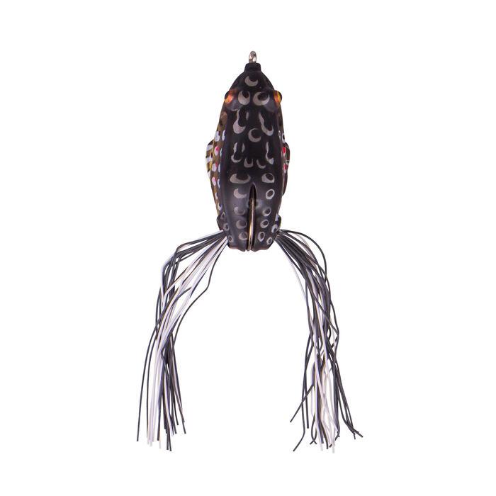Kunstaas voor hengelsport 3D Skirt Frog 7,5 cm bruin