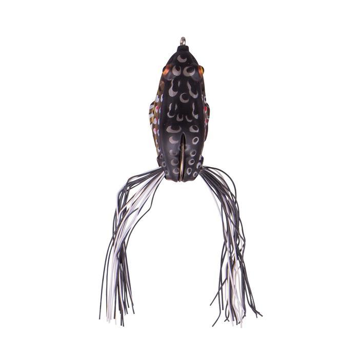 Kunstaas hengelsport 3D Skirt frog 6 cm brown
