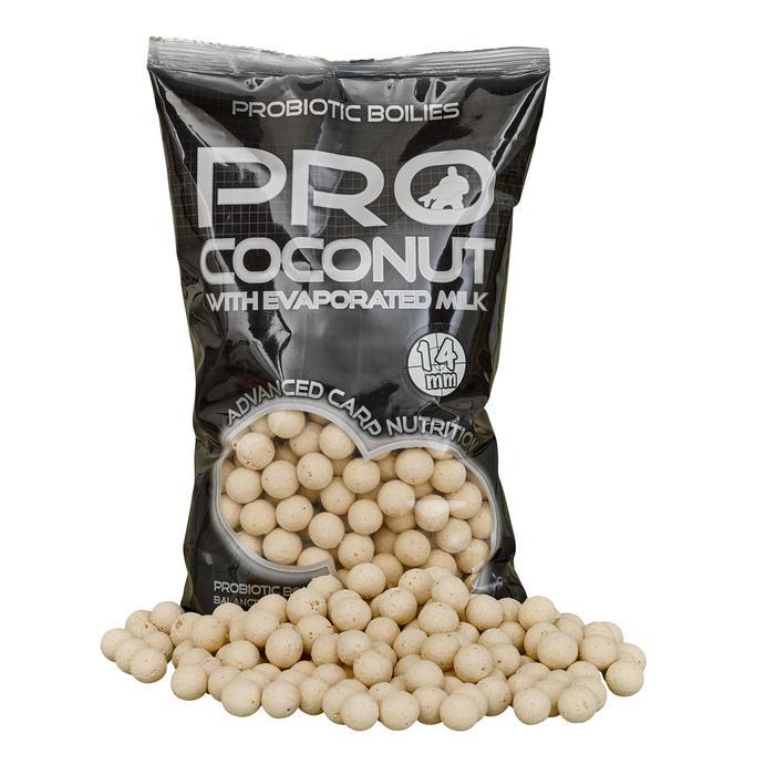 Boilies karpervissen Probiotic kokosnoot 14 mm