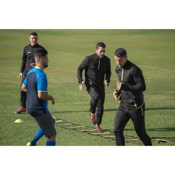 Trainingsjack voetbal T100 voor volwassenen zwart