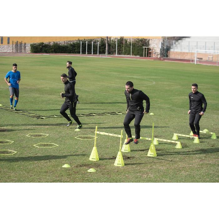 Trainingsjack voetbal T500 voor volwassenen zwart