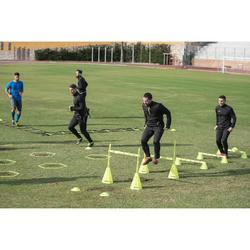 Voetbal trainingssweater met halve rits voor volwassenen T500 zwart
