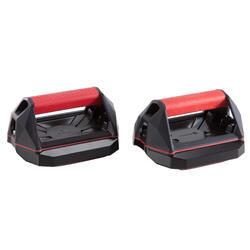 Versatile Cross Training Push-Up Wheel Grips - Red/Black