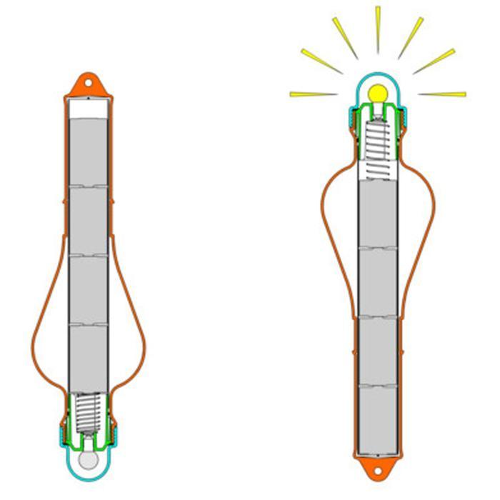 Luz barco de emergencia con pila plastimo