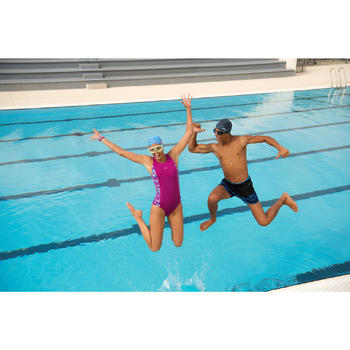Korte zwemshort 150 heren Opi zwart/blauw