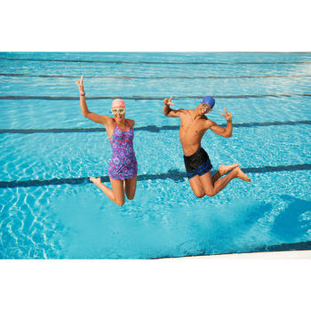 Schwimmshorts 150 Court Opi Herren schwarz/blau