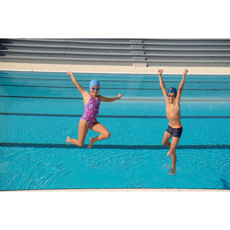 100 Xbase Swimming Goggles Size S Blue Red Nabaiji