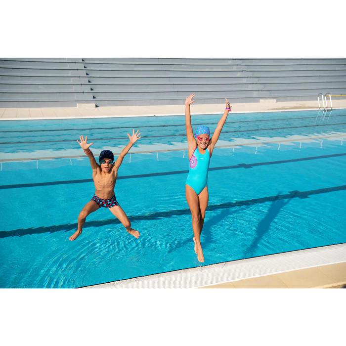 Bañador de natación una pieza niña Leony + azul violeta andili