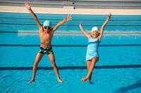 B-Active Boys' Boxer Swim Shorts - Alljaws Green