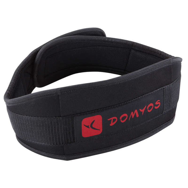 GLOVES, BELTS, APPAREL Fitness and Gym - Polyester Lumbar Belt DOMYOS - Fitness and Gym