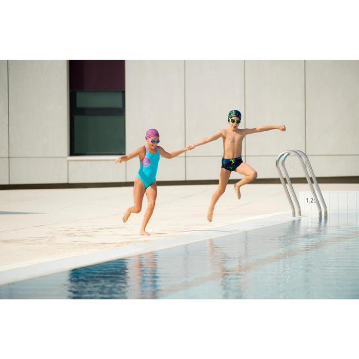 Badeanzug Leony+ Mädchen blau/violett