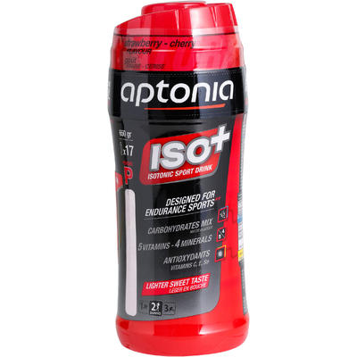 Порошок Iso+ для ізотонічних напоїв, 650 г - Полуниця/Вишня