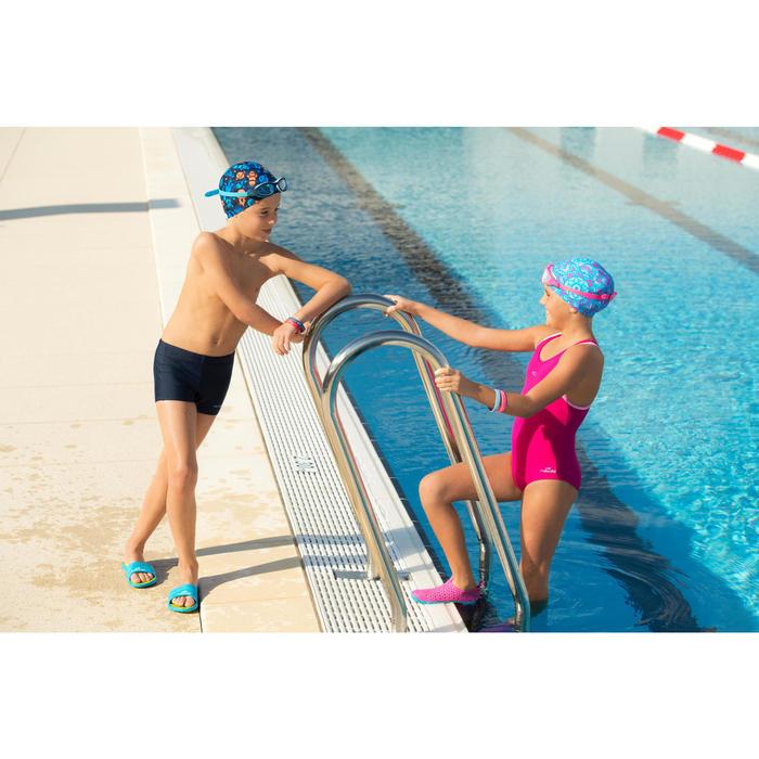 Schwimmbrille Kinder Easydow 100 S blau/weiß