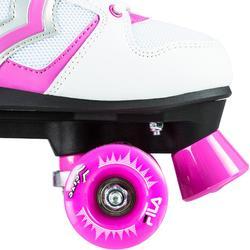 Rolschaatsen voor kinderen Verve wit/roze