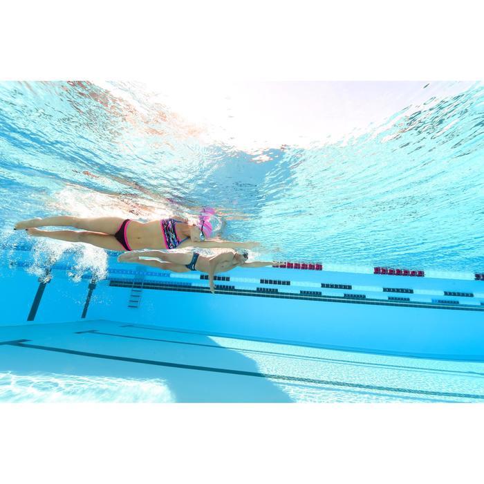 Bas de maillot de bain de natation femme résistant au chlore Jade noir rose